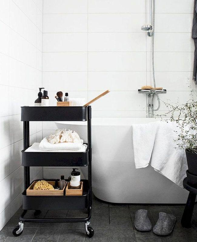 Ikea hack salle de bain desserte raskog