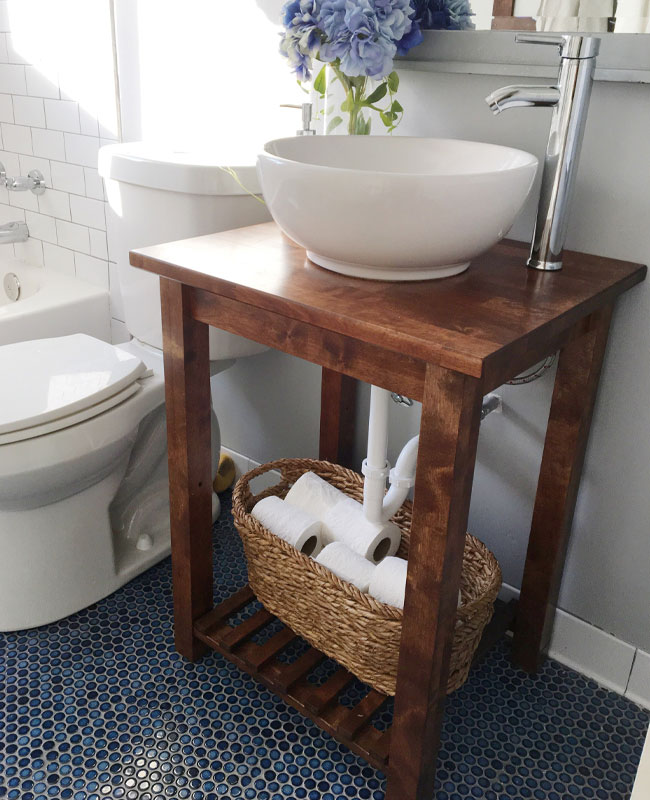 Ikea hack salle de bain meuble cuisine