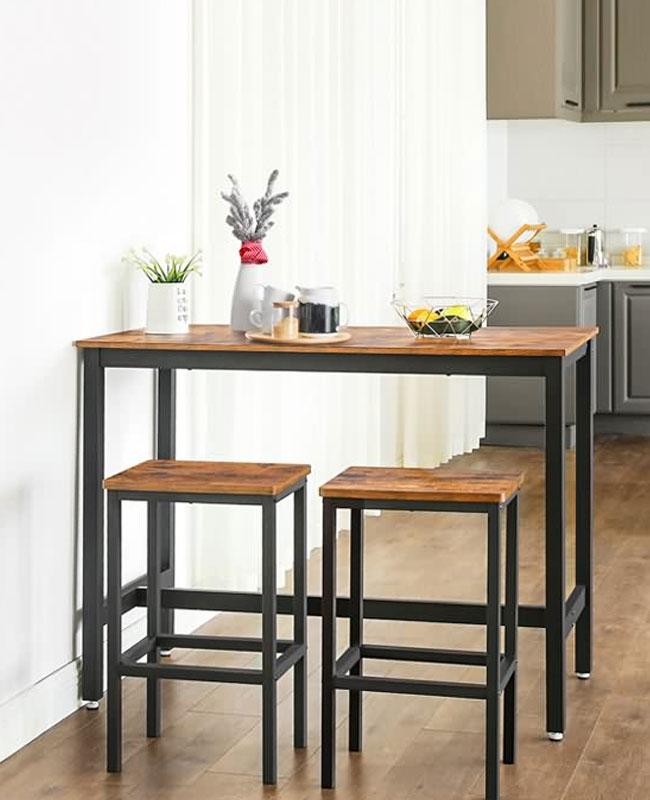 meuble industriel pas cher table haute