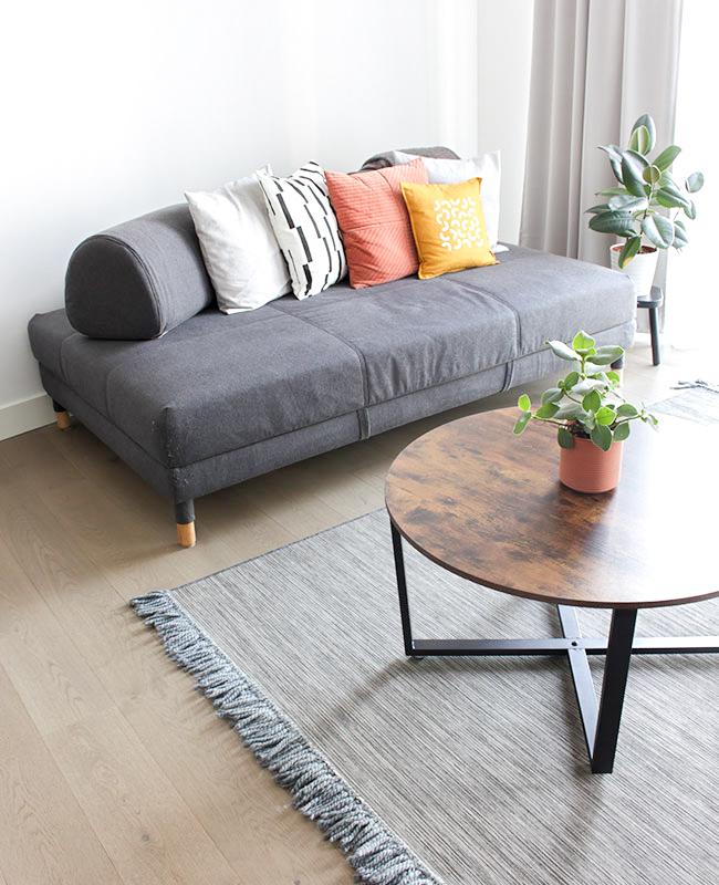 meuble industriel pas cher table basse ronde