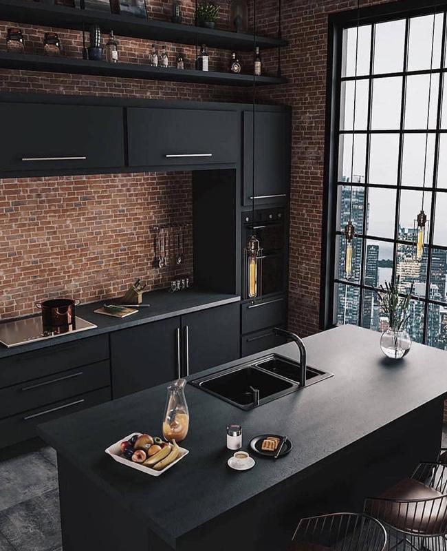 deco cuisine noire industrielle