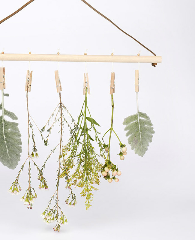 diy fleurs sechees suspension murale