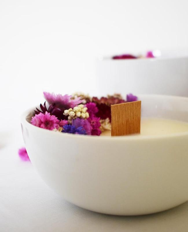 diy fleurs sechees bougie