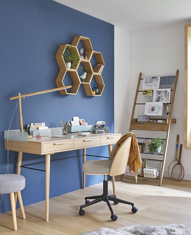 fauteuil bureau moderne gris bois clair