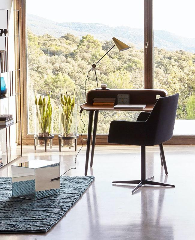 fauteuil bureau moderne rotatif gris