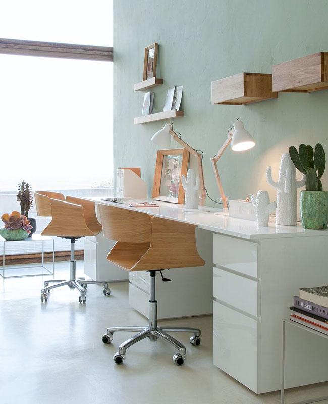 fauteuil bureau moderne bois roulettes