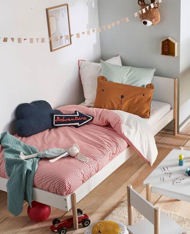 nouveauté déco vertbaudet 2020 lit enfant bois et blanc