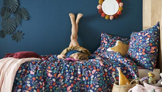 linge de lit printanier enfant