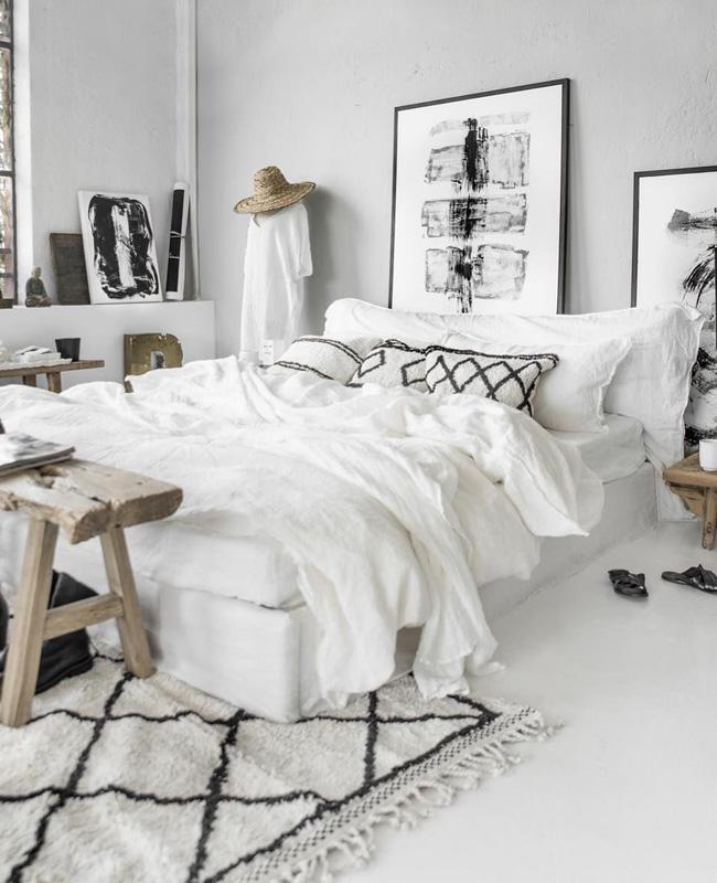 tapis beni ouarain berbere chambre
