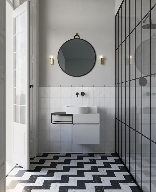 collection ex t design salle de bain noir blanc