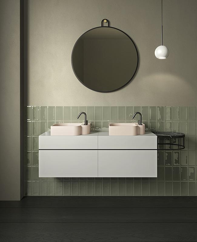 collection ex t design salle de bain vert