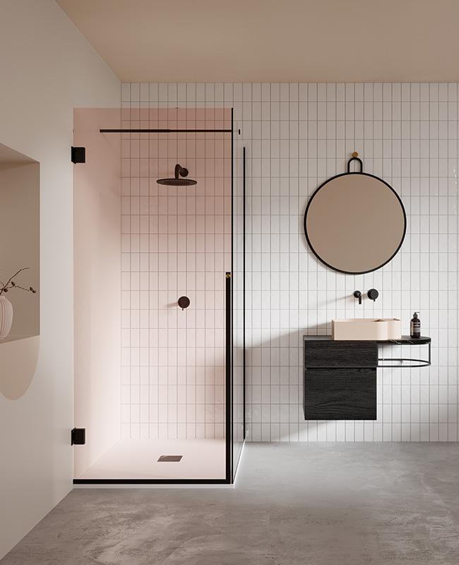 collection ex t design salle de bain rose