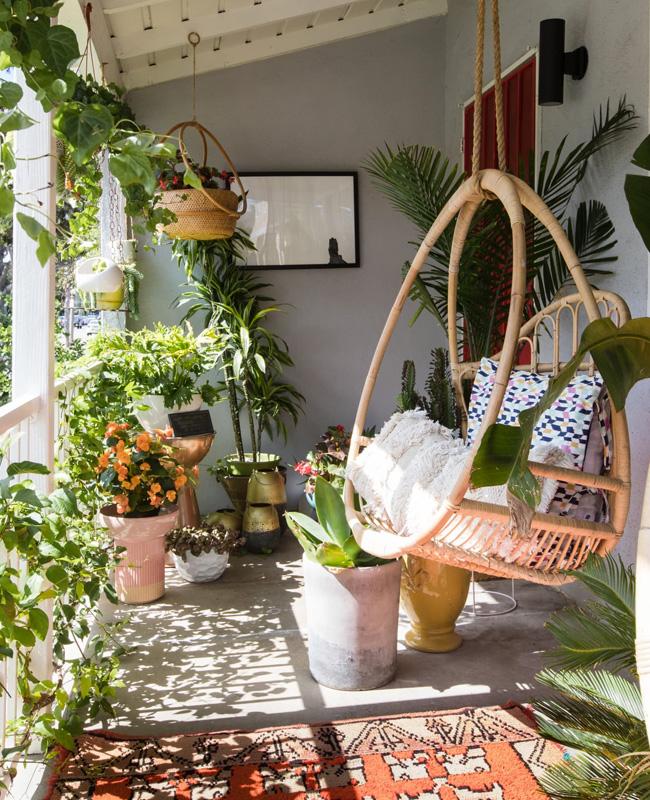 deco balcon printemps plantes