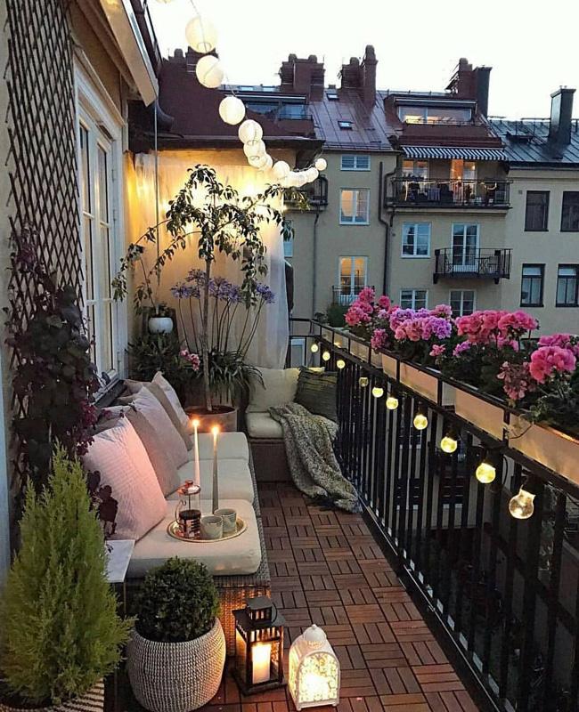 deco balcon printemps guirlande