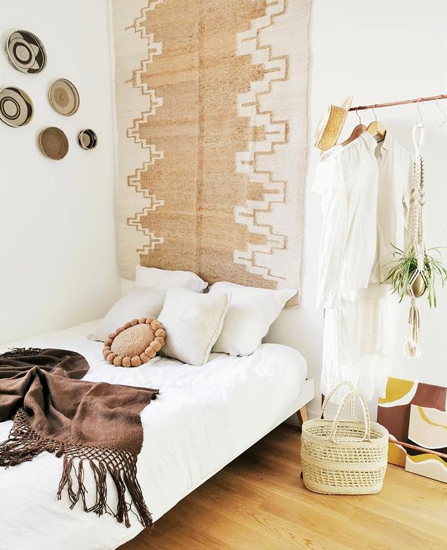 deco murale tapis chambre tête de lit