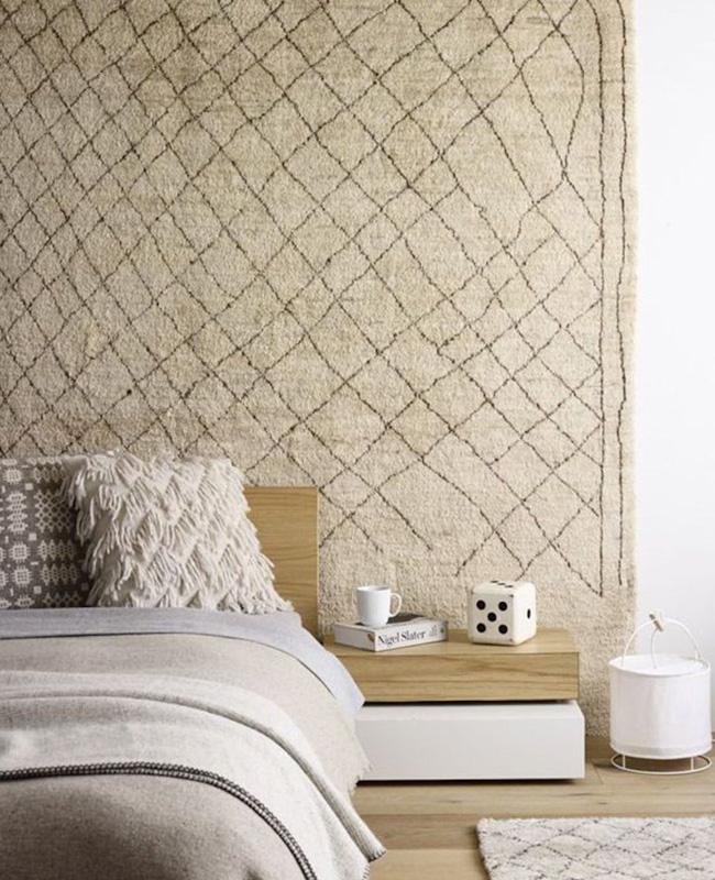 deco murale tapis chambre boheme