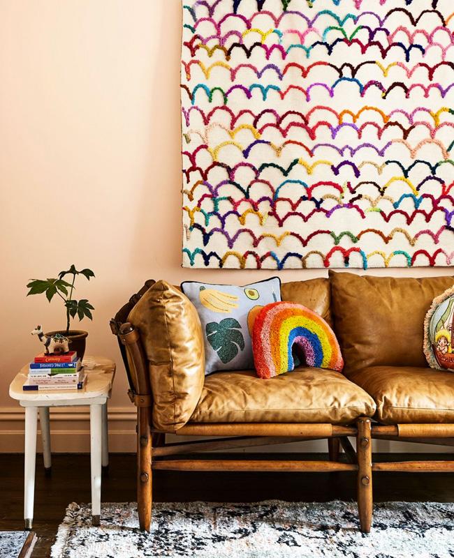 deco murale tapis salon couleur