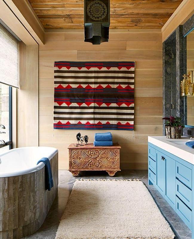 deco murale tapis salle de bain ethnique