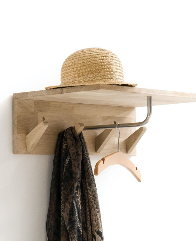 etagere porte manteau patere bois