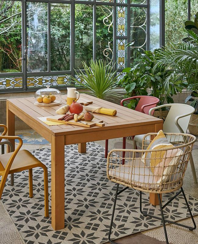 fauteuil jardin rotin moderne