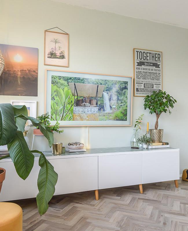 Ikea Hack besta meuble tv carrelage