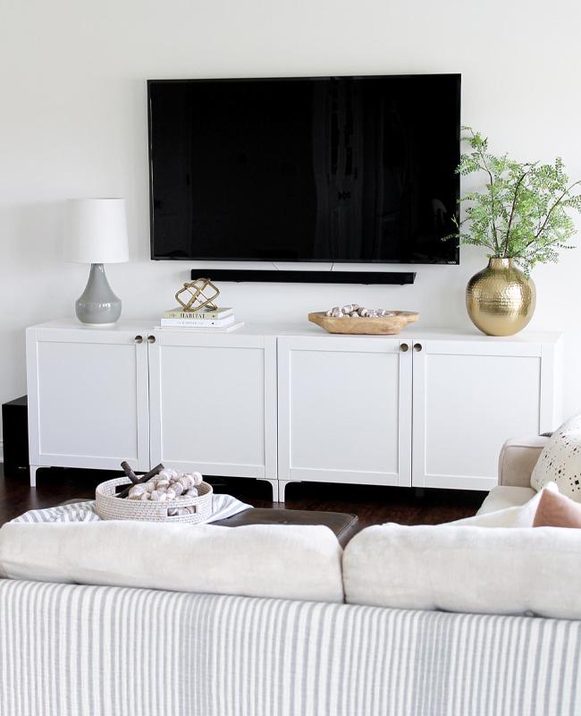 Ikea Hack besta meuble tv chic