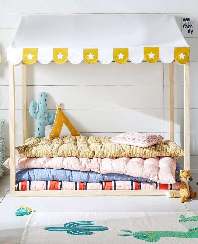 matelas de sol chambre enfant jaune
