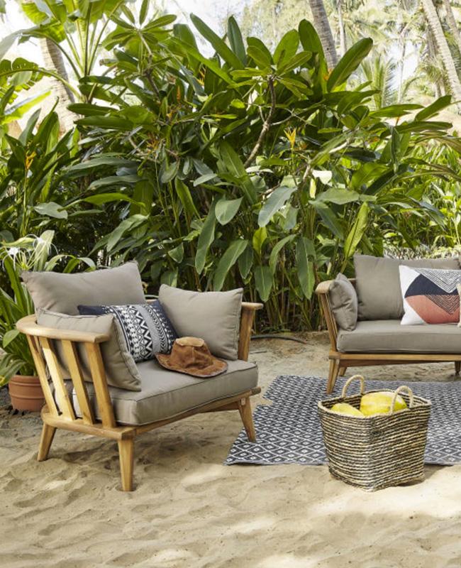 salon de jardin moderne bois taupe