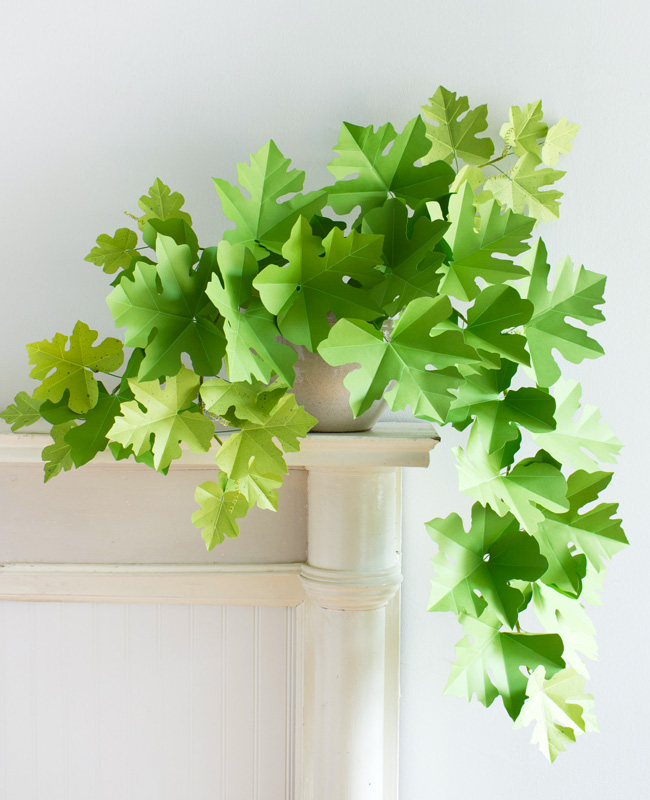 plante papier tuto diy feuille vigne