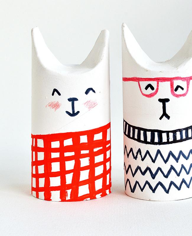 tuto diy rouleau papier toilette chat