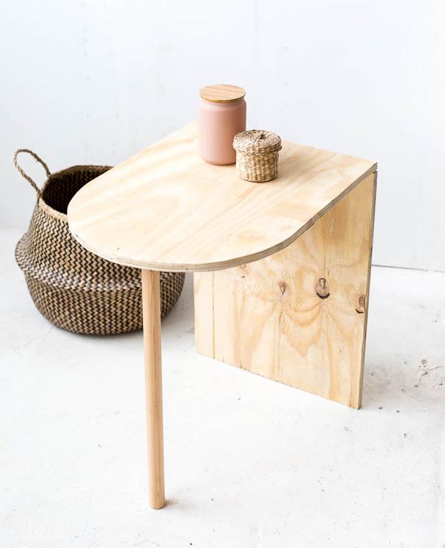 tuto diy table de chevet bois minimaliste