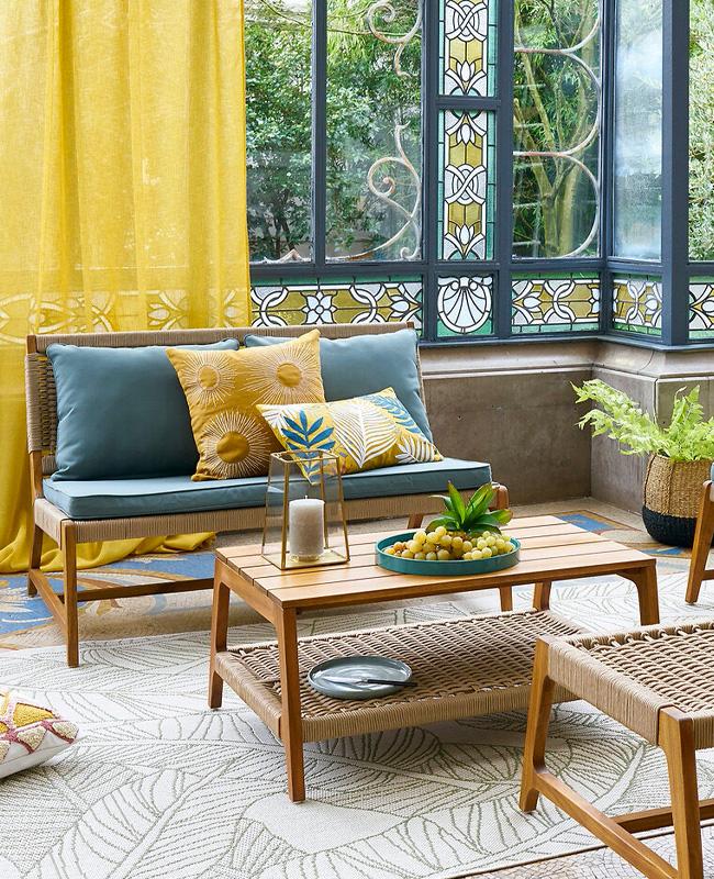 deco terrasse moderne salon jardin bois