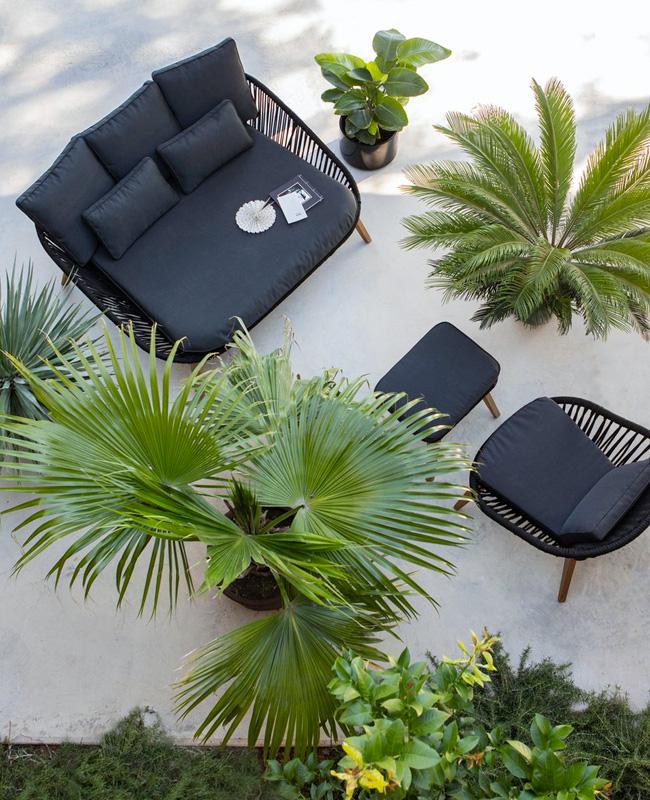 deco terrasse tropicale canape lit jardin
