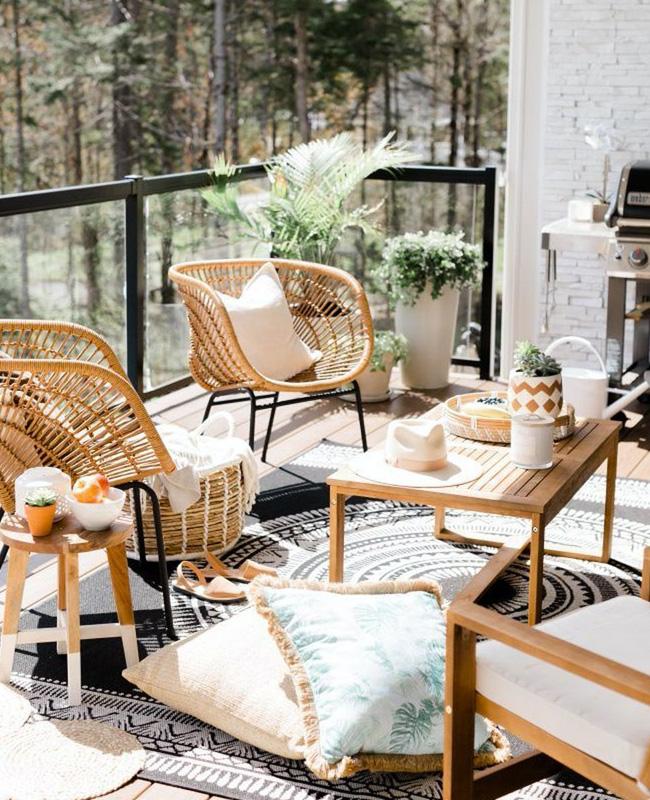 deco balcon boheme moderne