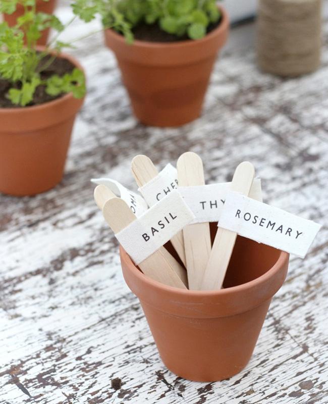 marque plante tuto diy étiquette