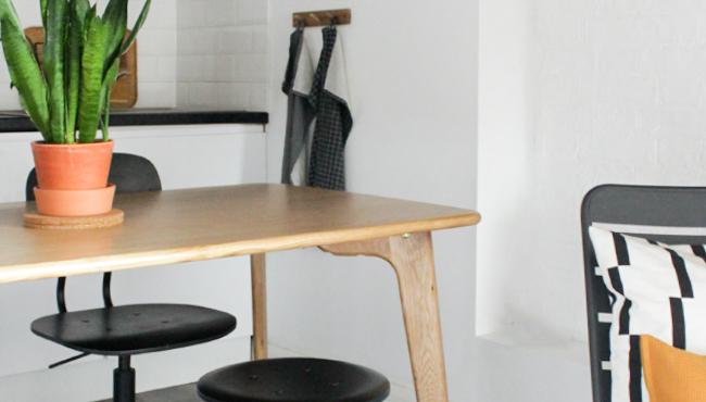 table salle a manger bois made