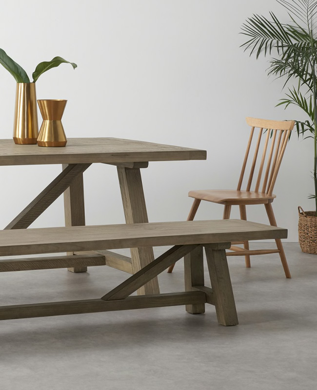 table salle a manger bois made pin blanchi