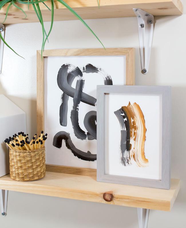 tuto diy affiche abstraite peinture