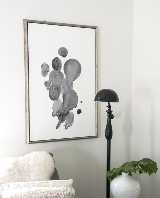 tuto diy affiche abstraite watercolor