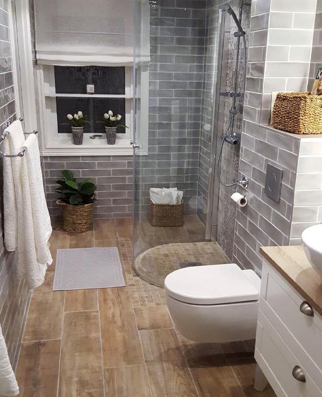 salle de bain deco moderne bois