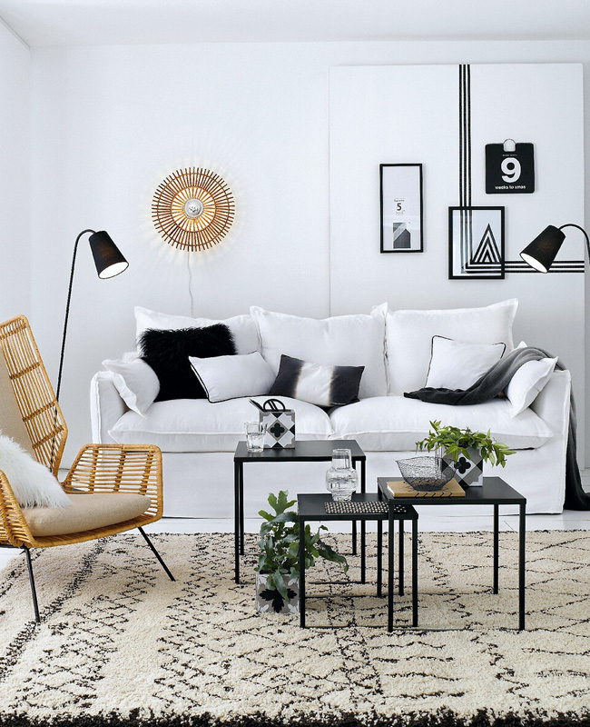 canape convertible lin blanc soldes