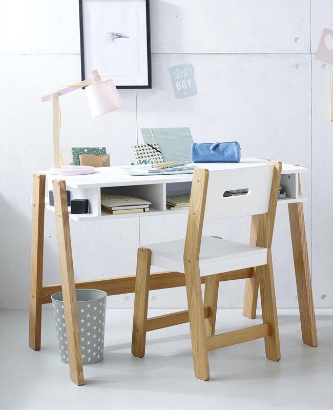 bureau enfant primaire blanc bois