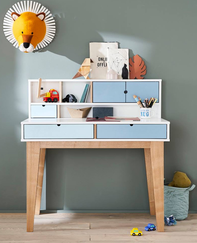 bureau enfant primaire bleu