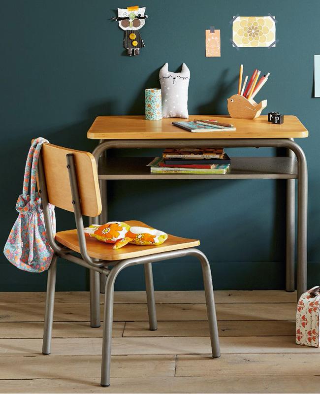bureau enfant primaire vintage