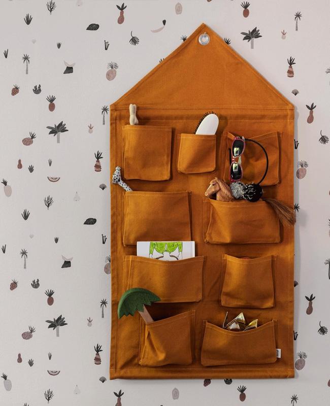 rangement mural tissu enfant chien maison