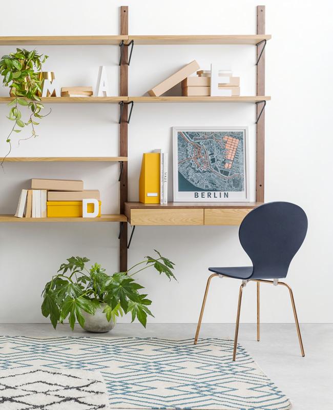 etagere modulable bois bureau