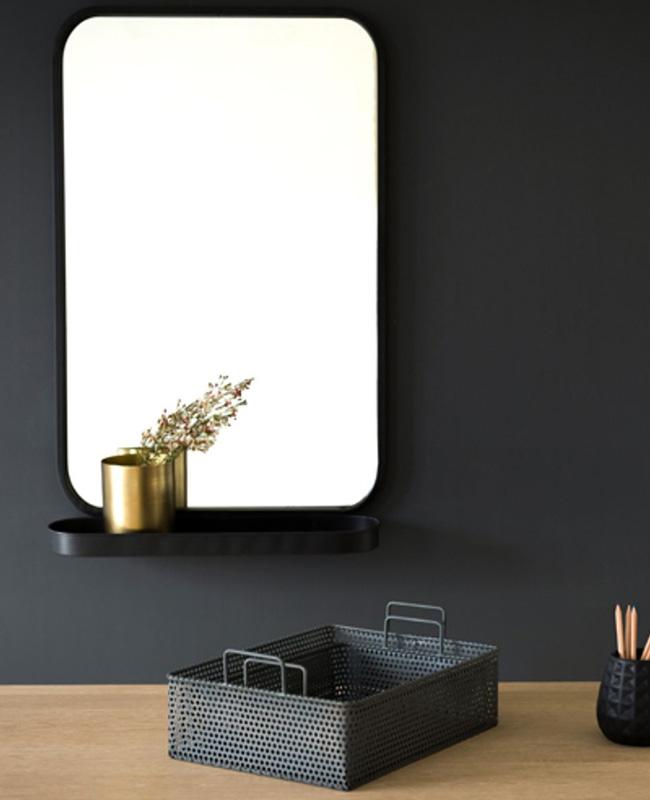 miroir metal noir