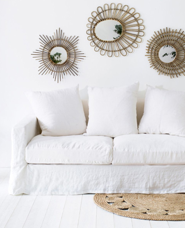 canape lin blanc