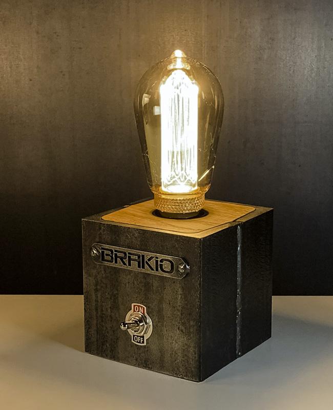 brakio lampe industrielle cube