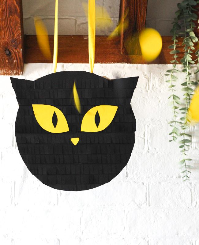 tuto pinata chat noir diy halloween